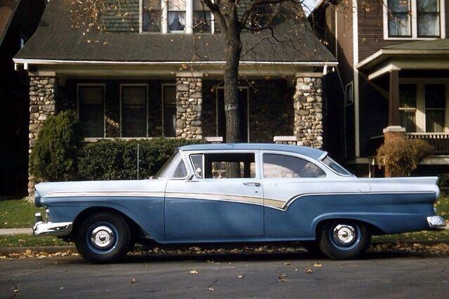 1957 ford custom 300 2 door sedan wheels wings waves for 1957 ford 2 door
