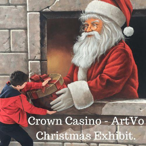 Christmas comes alive with ArtVo Christmas exhibit.