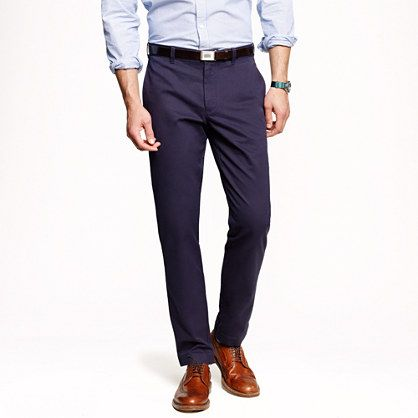 J.Crew Essential Chino | Urban Slim Fit | The challenge: Replace your daily dark denim with three pairs of these in various colors. Upside: you always look dressed up. Downside: none.