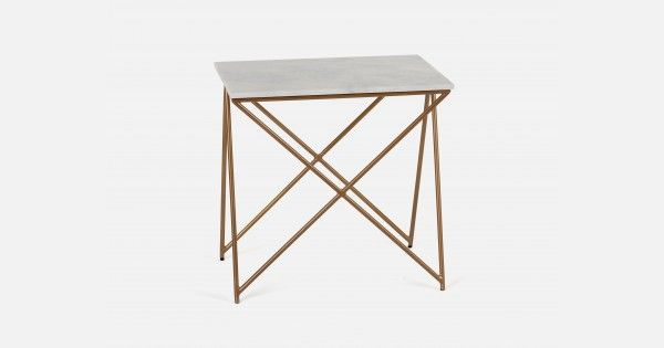 NESTA Marble end table White | Structube