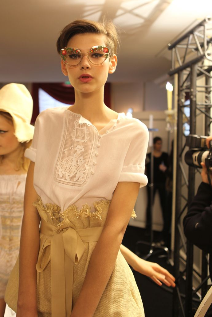 Ulyana Sergeenko--and also? Those frames!!