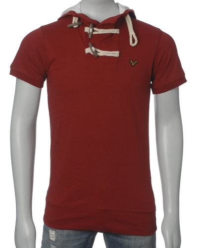 Voi Jeans T-skjorte m/ Hette (Red) - Smartguy.no - $280nok