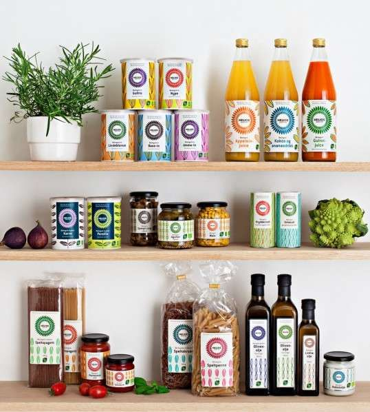 Vibrant Patterned Packaging - Helios and Uniform Creative Vivacious Packaging for Organic Food (GALLERY)