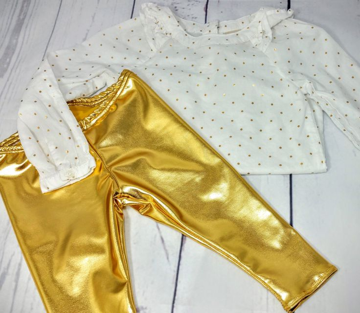 Gold Leggings Baby Leggings Toddler Leggings Girls Leggings Boys Leggings Kids Leggings Gold Leggings by BizzieBeeBoutique on Etsy