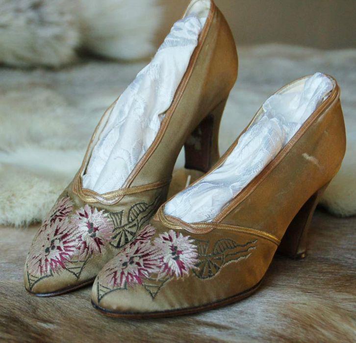 Art Nouveau Shoes Ca 1920