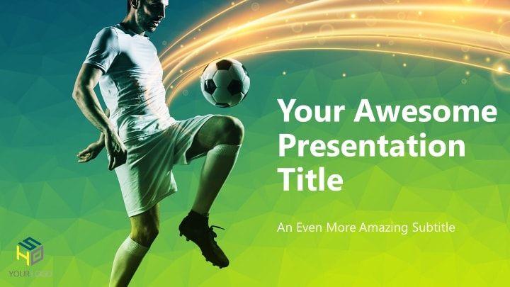 Soccer Modern Powerpoint Template Green Version Powerpoint