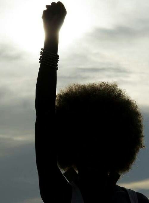Image result for afro puff and fist up