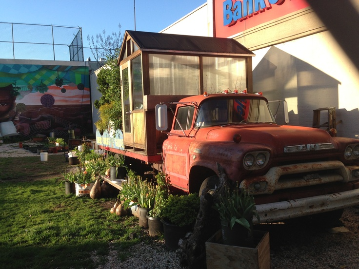 Ett mobilt växthus.