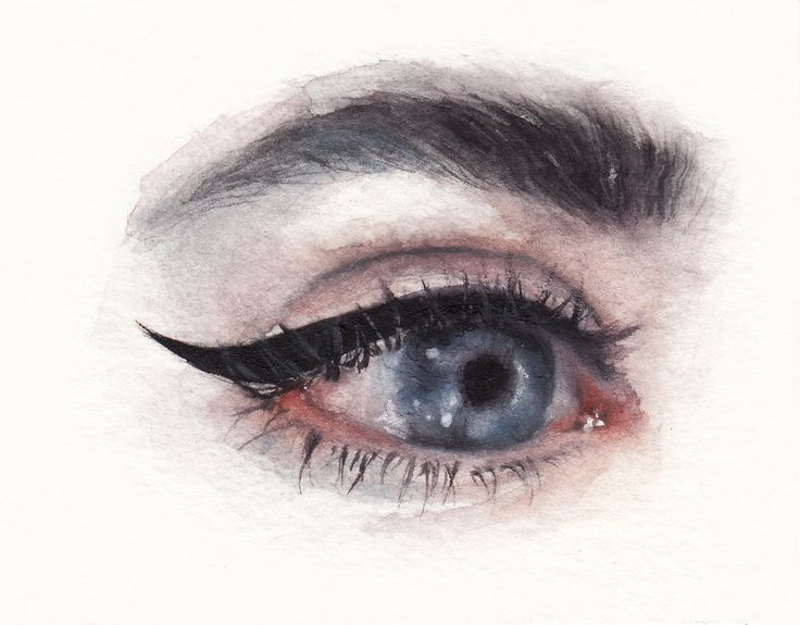 #watercolor #aquarelle #eyes #beauty #makeup #portrait #fashion #illustration #face #lashes #mascara #sennelier #art #painting #drawing