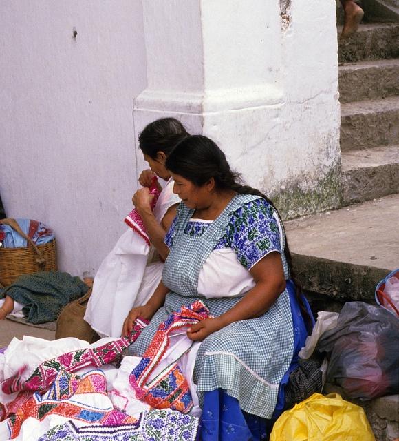 Blouse Sellers Mexico by Teyacapan, via Flickr~ Cuetzalan, Puebla, Mexcio