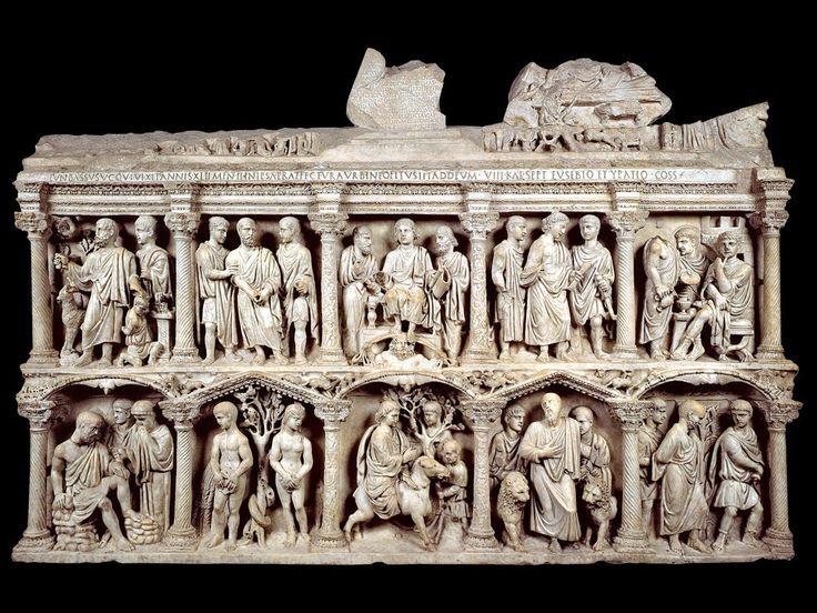 Saracófago de Junius Bassus, S.IV. Roma, Cripta del Vaticano. -18c