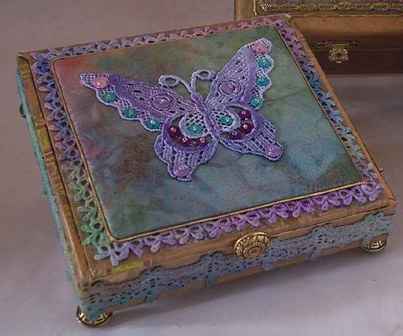 Image detail for -Another Altered Cigar Box with a silk print embellished with Silk ...