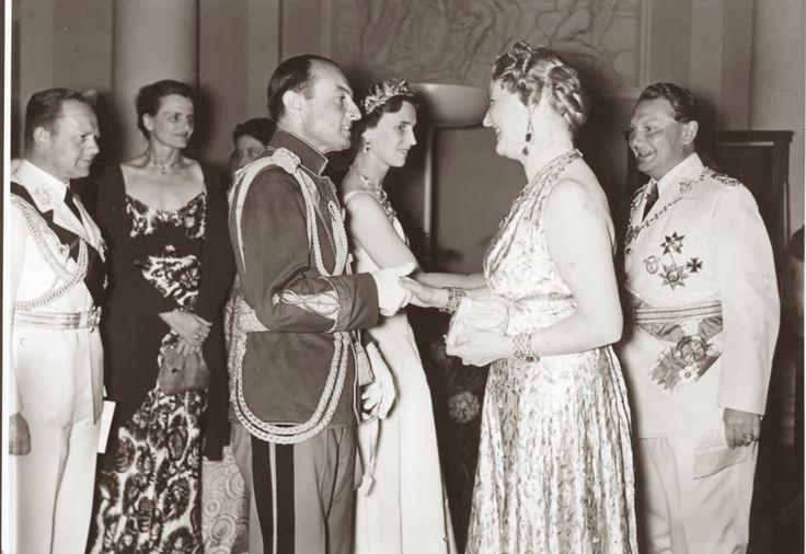 Prince Paul and Princess Olga of Yugoslavia meeting with Goering and his wife