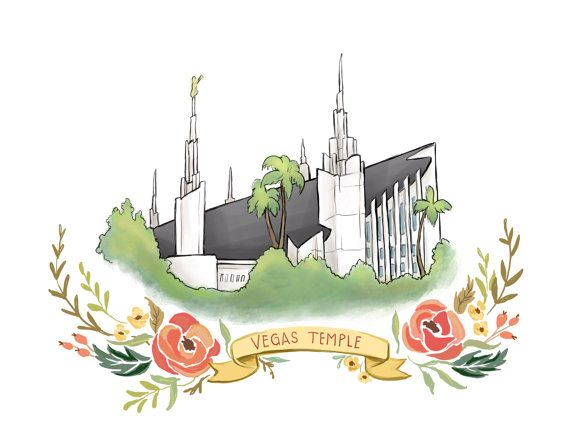 Las Vegas Temple, LDS temple, Mormon art, FHE, latter day saint, Christian…