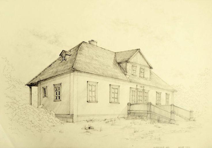 Opuszczony dwór w Dziadkowskich