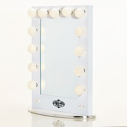 The Broadway Lighted Vanity Mirror is the most functional, versatile vanity mirror on the market. With 13 large, professional-quality, dimming light bulbs, this attractive, classic mirror enhances any makeup table, providing the type of clean, soft white light makeup artists and photographers love.
