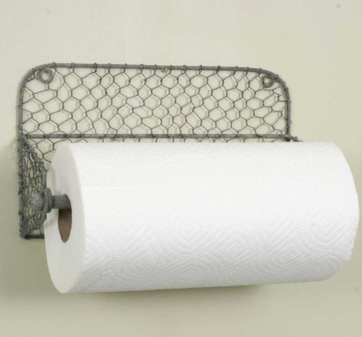 """Holds any standard roll of paper towels, or great for use as a rack for small dish towels. Measures 13½"""" wide, 7"""" tall and 4½"""" deep. Bar lifts out on one side to allow the paper towels to be easily re"""