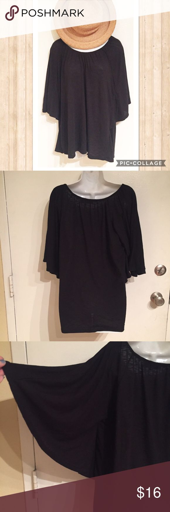 ☘️5for$25🍀Cato Black Batwing Sleeve Top Cato basic black Batwing Sleeve Top. Size large. #cato #basic #black #batwing #angelwing #kimono #top #large #punkydoodle  No modeling Smoke free home I do discount bundles Cato Tops
