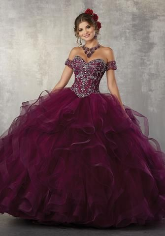 af5014f4cac Off Shoulder Lace Quinceanera Dress by Mori Lee Vizcaya 89168 in ...