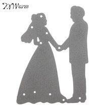Metal Bride Groom Wedding Cutting Dies Stencils For DIY Scrapbooking Card Paper…