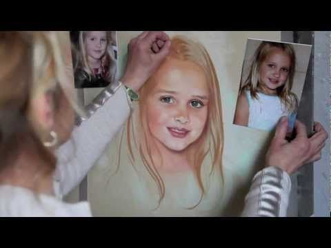 ▶ How to paint a Pastel Portrait - step by step - YouTube