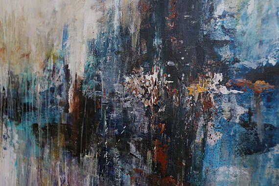 Abstrakte Landschaftsmalerei ORIGINAL Farbe Wand-Dekoration