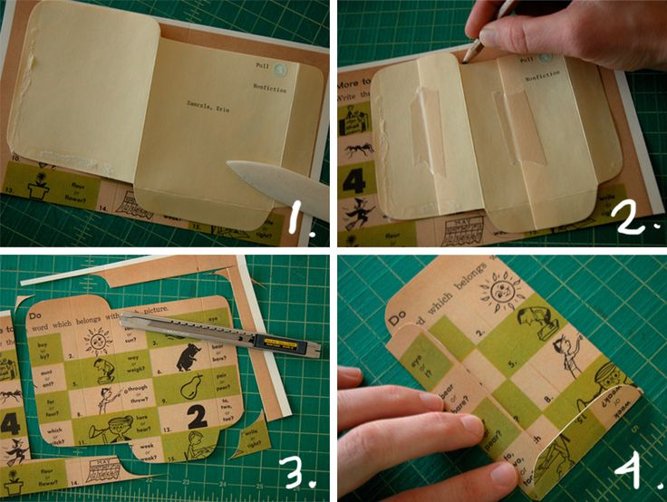 Make your own library pockets for your personal books. Free PDF template.