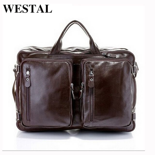 Good price WESTAL leather laptop bag 17 genuine leather men bags messenger shoulder bags crossbody bag travel handbag suitcase briefcase just only $116.94 with free shipping worldwide  #crossbodybagsformen Plese click on picture to see our special price for you