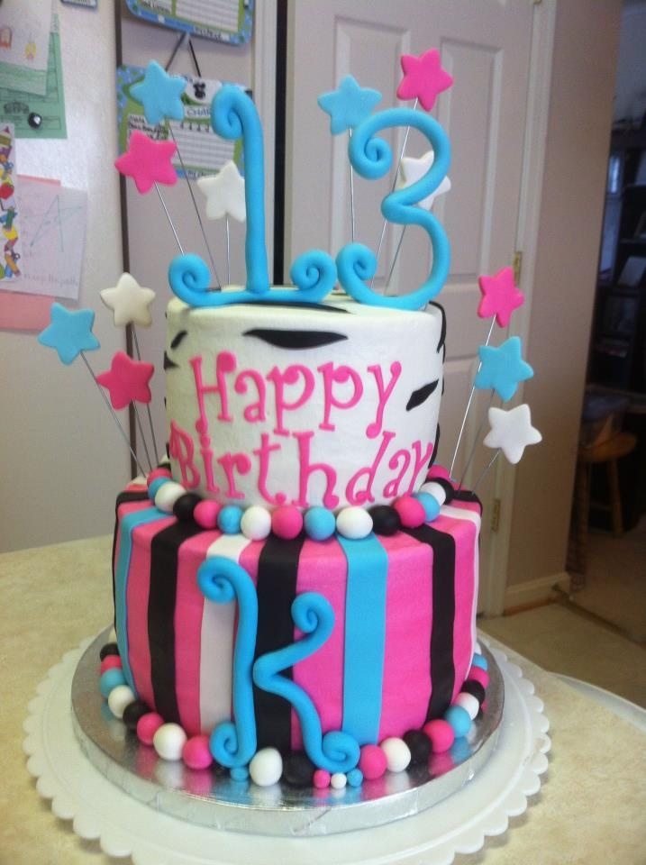 152 Best Cakes 13th Birthday Images On Pinterest 13th