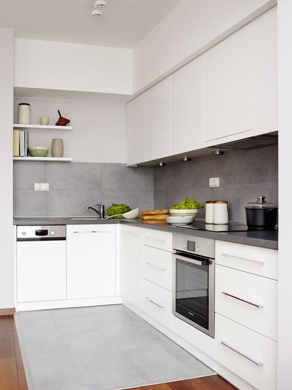 Картинки по запросу белая кухня с серой столешницей
