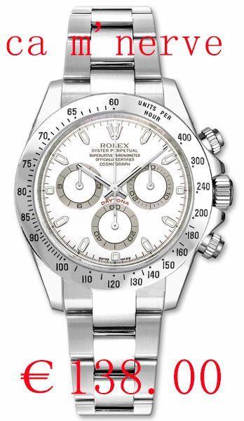 615e418f3a3 Rolex Daytona montre 116520WSO Réplique de luxe pas cher avec boite ...