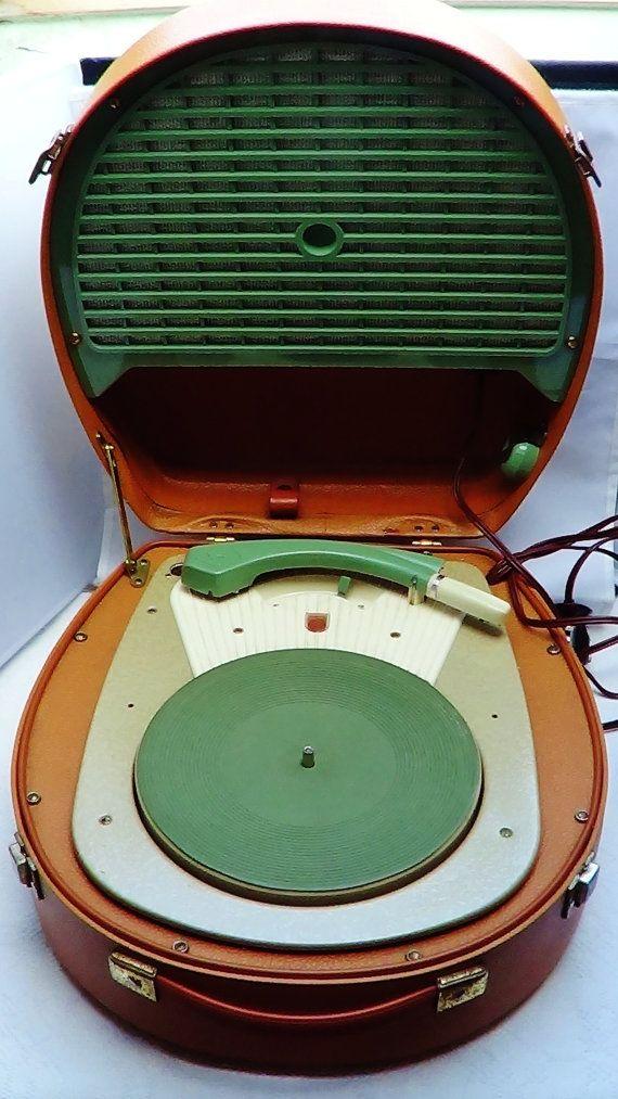 Tocadiscos Philips holandés VINTAGE ROCKANROLL 1950 por Iboyart