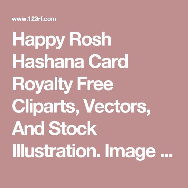 Happy Rosh Hashana Card Royalty Free Cliparts, Vectors, And Stock Illustration. Image 15166968.