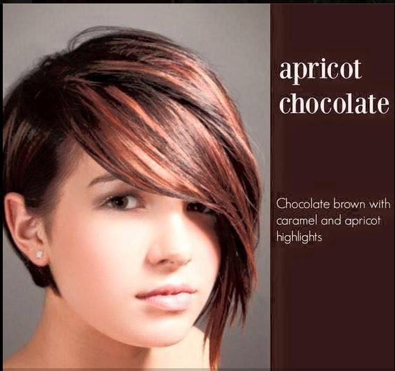 Apricot Chocolate Hair Color Chocolate Brown With Caramel
