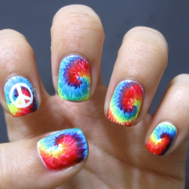 279 best nail art rainbowsextreme color images on pinterest tie dye nails prinsesfo Image collections