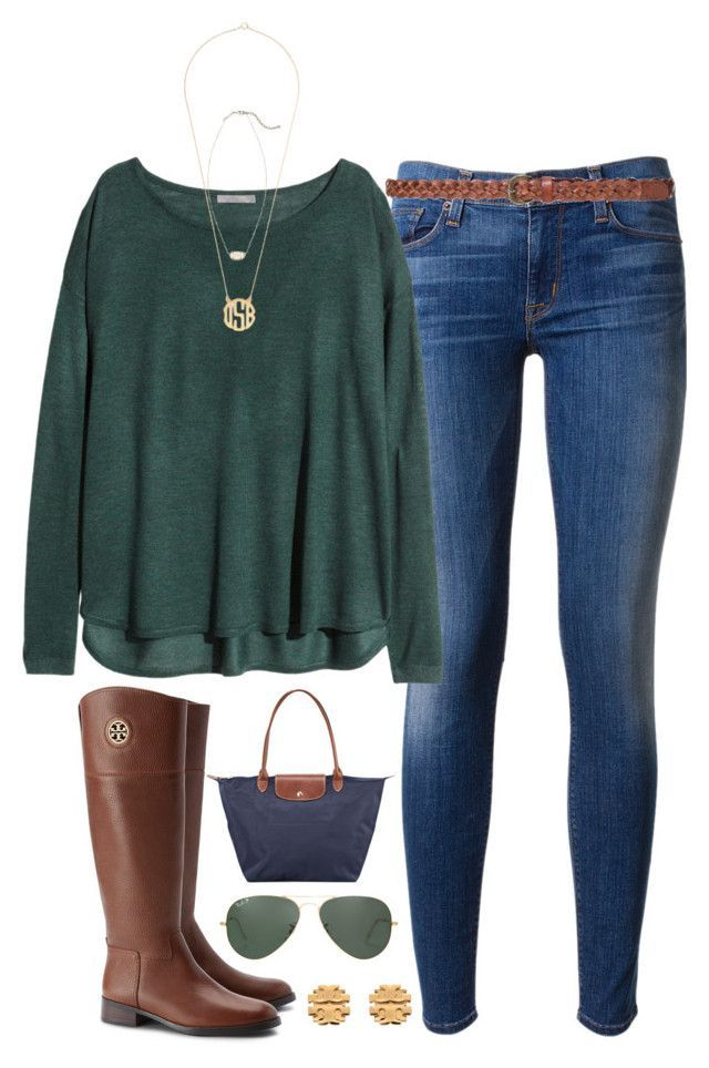 layered necklaces by tabooty ❤ liked on Polyvore featuring moda, Hudson, HM, Kendra Scott, Tory Burch, Longchamp, Ray-Ban e Zara