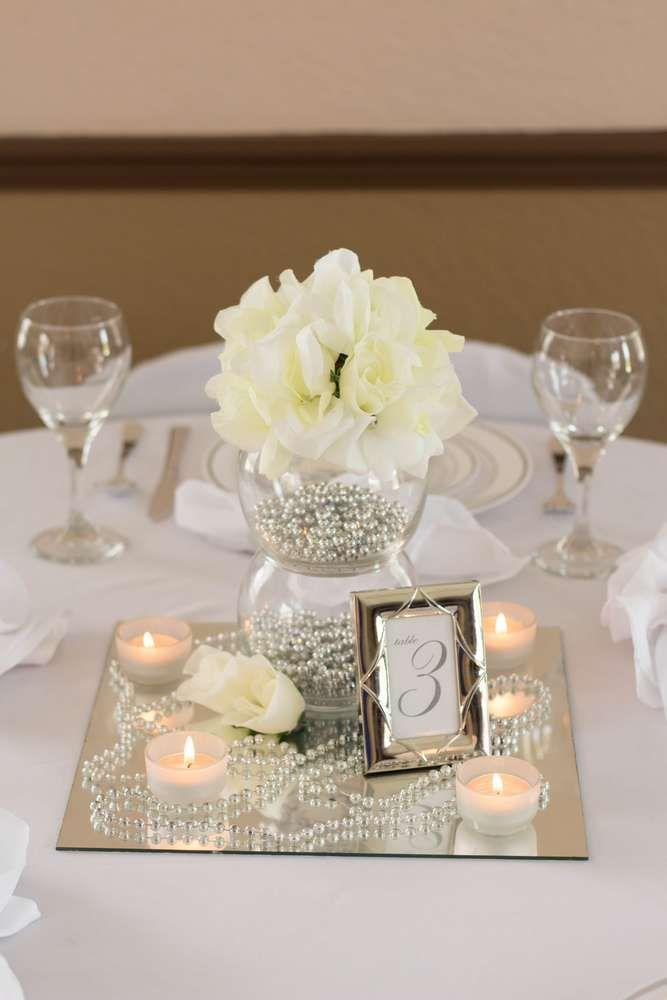 White, Ivory, Silver Wedding Party Ideas | Photo 1 of 6