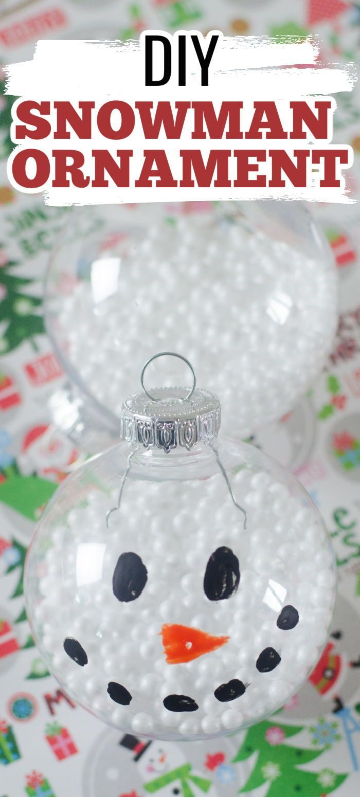 Diy Snowman Ornament Recipe Diy Snowman Ornaments Clear Christmas Ornaments Diy Kids Christmas Ornaments