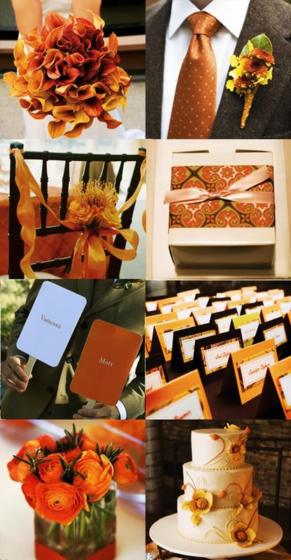 Burnt Orange Chocolate Brown And Tealsome Beautiful Fall Wedding Colors