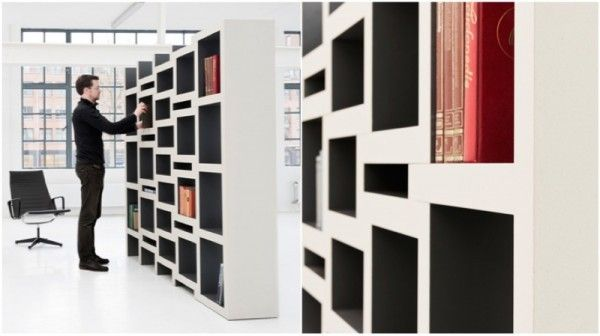 Creative bookshelves modern modular fascinating light library