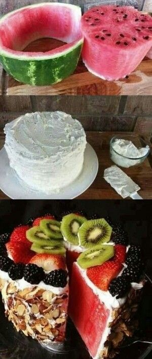 Wonderful idea found on the Web. Cake that is much more health conscious and just as yummy!