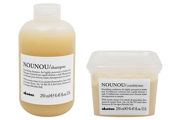 Best of Beauty 2015 Winner -- The best shampoo and conditioner for damaged hair: Davines Nounou Shampoo and Conditioner | allure.com: