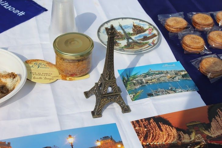 French cousine and souvenirs.