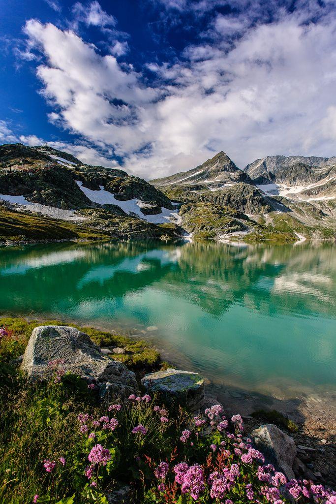Weißsee | crystal turquoise alpen lake, Weißsee Gletscherwelt, Austria by Achim Thomae~~