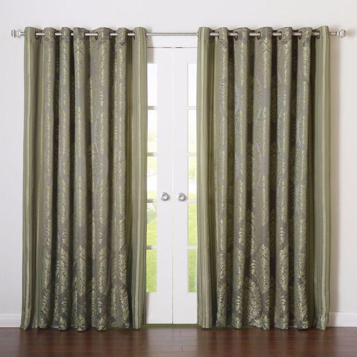 Wide Width Grommet Jacquard Damask Curtains Drapes Livingroom Bedroom Patio New #BHF http://www.ebay.com/itm/-/162494045210?ssPageName=STRK:MESE:IT