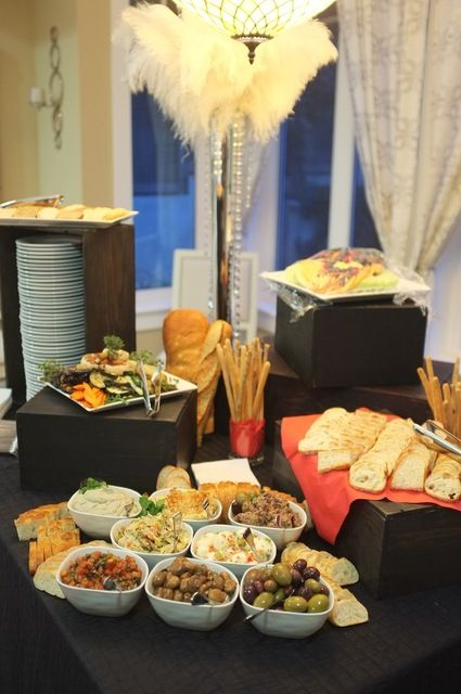 Appetizers casino themed party