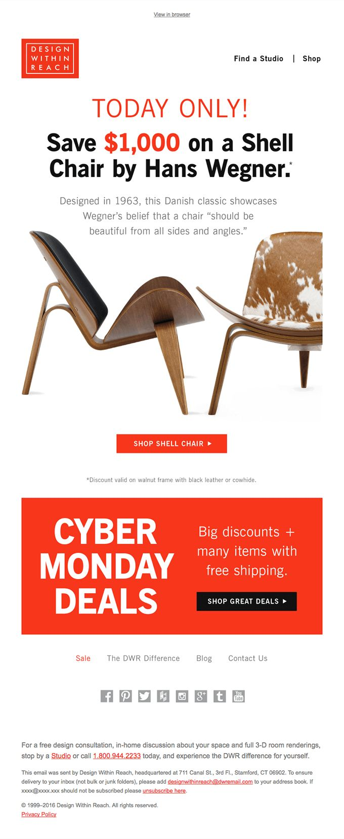 Score! It's Cyber Monday: Mystery deal revealed! - Really Good Emails