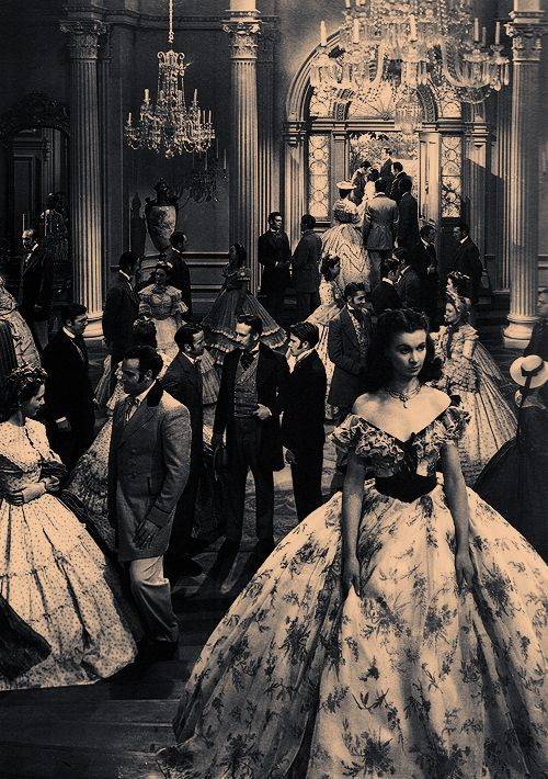 """""""Gone With The Wind"""" via twinspeaks on Tumblr. It's a long movie, but worth it. The sets, costumes, score and acting are all superb and make this movie a classic. Great movie to watch in bed when you're feeling under the weather."""