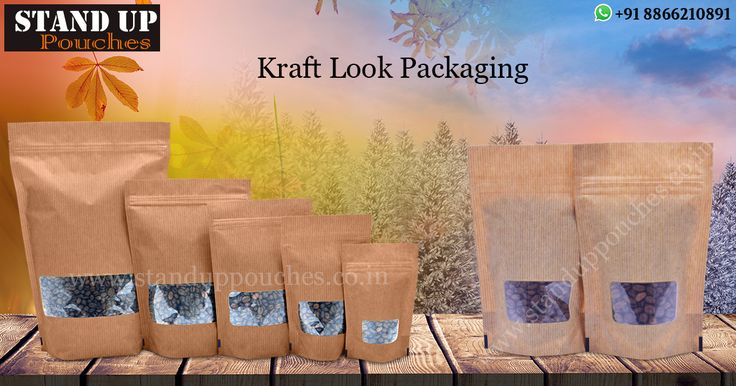 #StandUpPouches we produce #Kraftbags. We manufacture 100% #recycledKraftbags.
