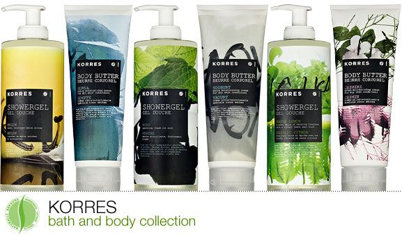 Korres Bath & Body Collection! I have some coming in the mail and I can't wait to try it!